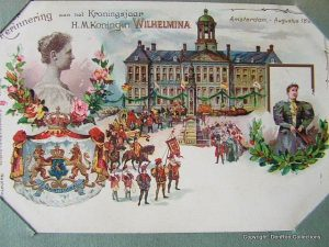 Kaart gemaakt in 1898 ter herinnering aan het Kroningsjaar.