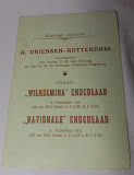 reverse of Driessen chocolate advertisement