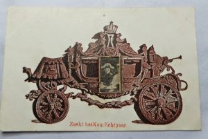 ansicht kaart uit 1901 met Koningin Wilhelmina en prins Hendrik