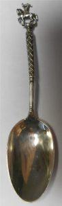 zilveren lepel met de prins van Oranje te paard t.g.v de tiendaagse veldtocht