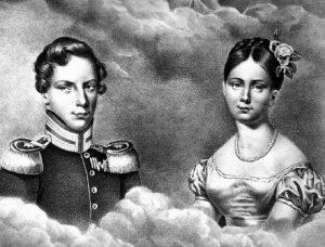 prent van Albert & Marianne uit 1830.