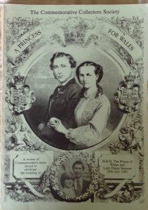 Catalogus met 280 pagina's aan huwelijkssouvenirs. Uitgegeven door de Royal Commemorative Society UK.