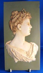 Plaket gemaakt in Duitsland t.g.v de inhuldiging van Koningin Wilhelmina 1898.