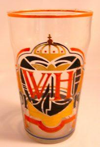 Helder glas ontwerp A. J van Kooten 1926 huwelijksfeest Koningin Wilhelmina & Prins Hendrik.