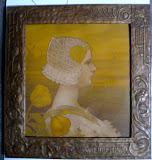 originele litho in art nouveau lijst