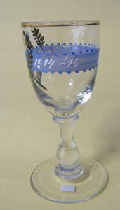 borrel glas ter herinnering aan de mobilsatie 1914-1915