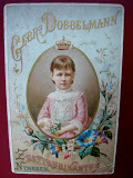 Queen Wilhelmina ca 1884 used to promote soap