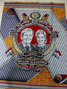 doek gemaakt in 2013 t.g.v de inhuldiging van Koning Willem-Alexander (beperkte oplage)