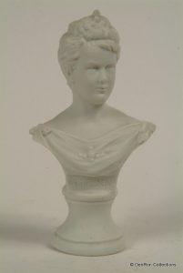 Porseleinen buste van Koningin Wilhelmina 1898.