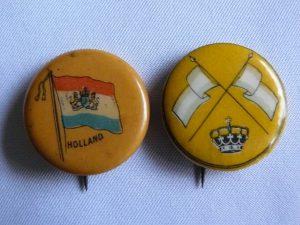 Buttons uit 1898 inhuldiging Koningin Wilhelmina