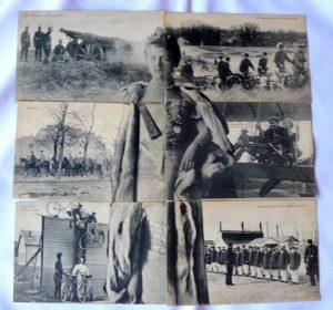 puzzel kaart set uit 1913 t.g.v de mobilisatie.