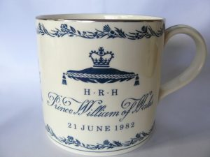 Beker t.g.v. de geboorte van prins William 1982